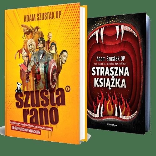 Szusta rano + Straszna książka Adam Szustak OP