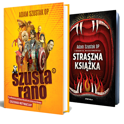 PAKIET Szusta rano + Straszna książka Adam Szustak OP