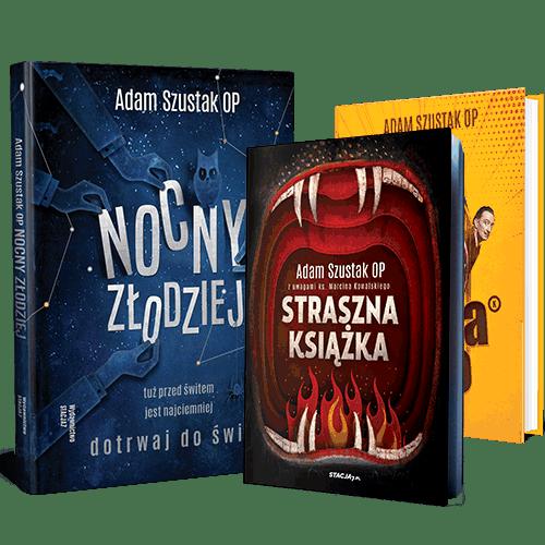 TRZYPAK o. ADAMA Nocny Złodziej, Szusta Rano, Straszna książka